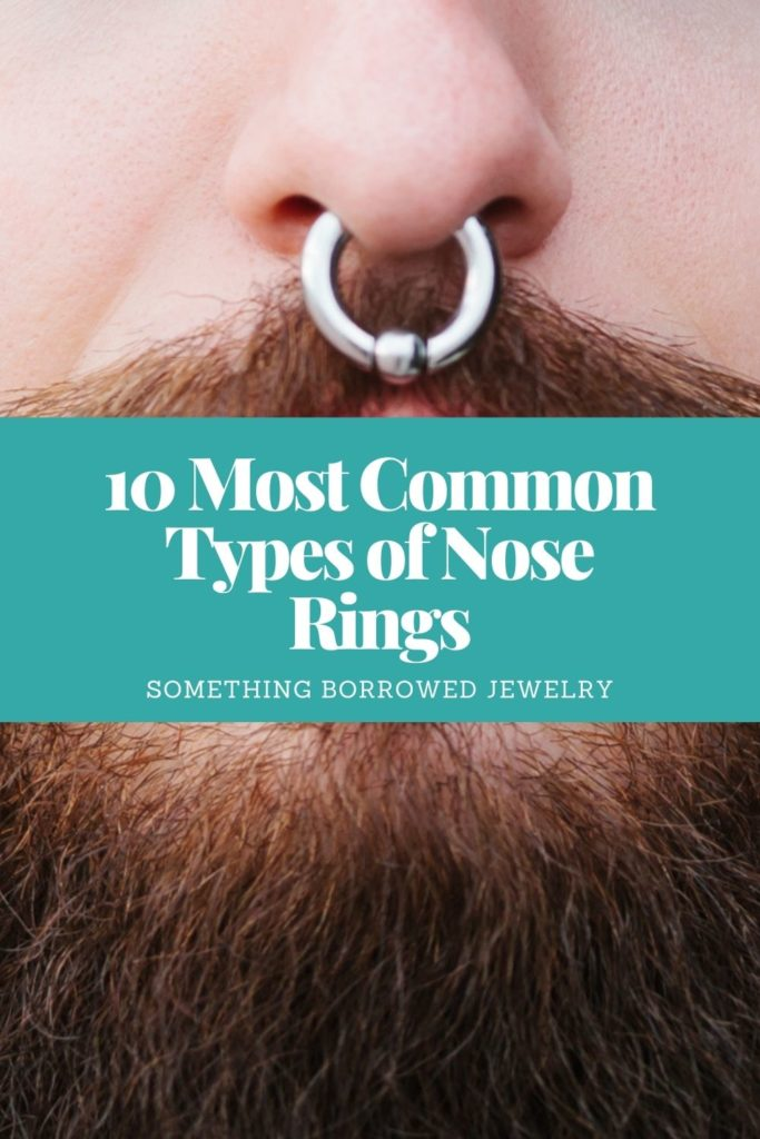 10 Most Common Types of Nose Rings 3