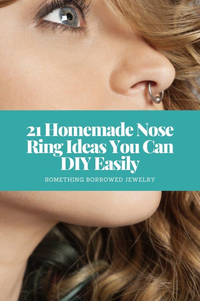 21 Homemade Nose Ring Ideas You Can DIY Easily 1