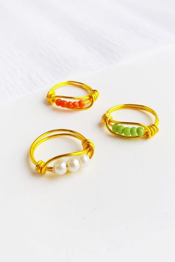 DIY Beaded Wire Ring 1