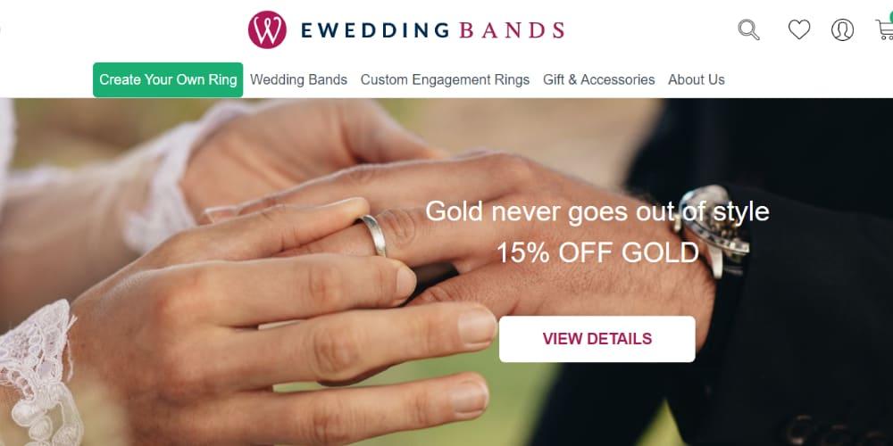 E Wedding Bands