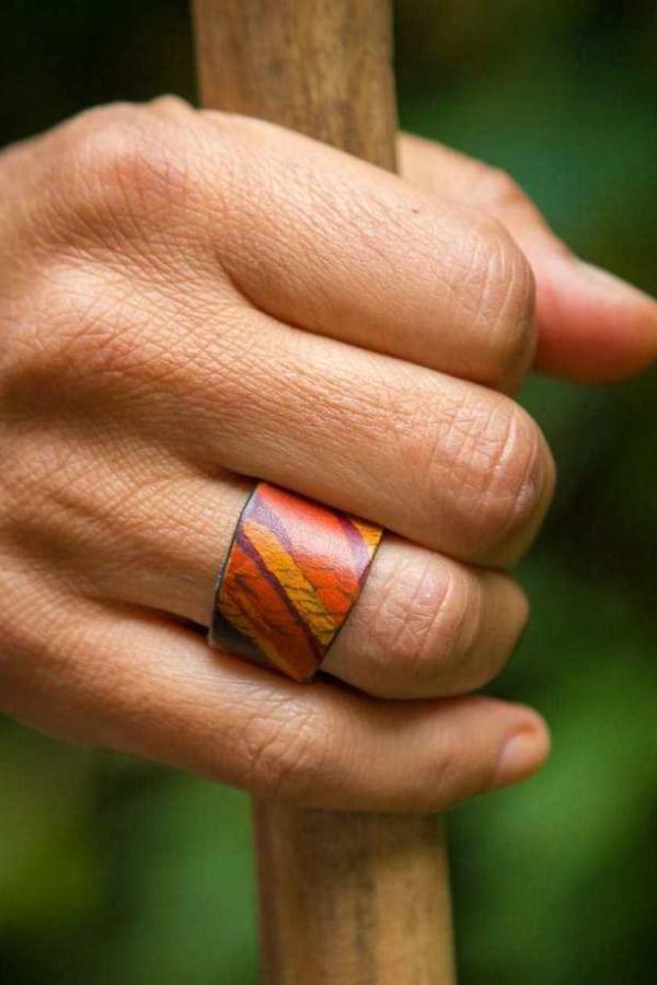 Leather Rings DIY