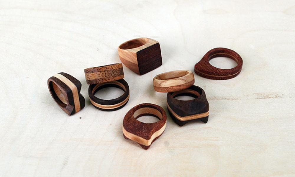 Simple Wooden Rings