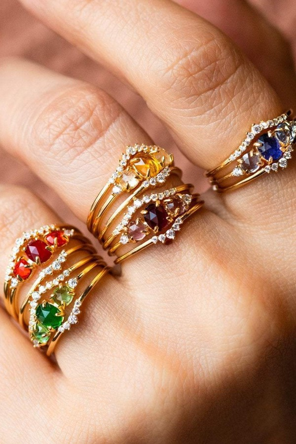 Stacking Ombre Ring Set