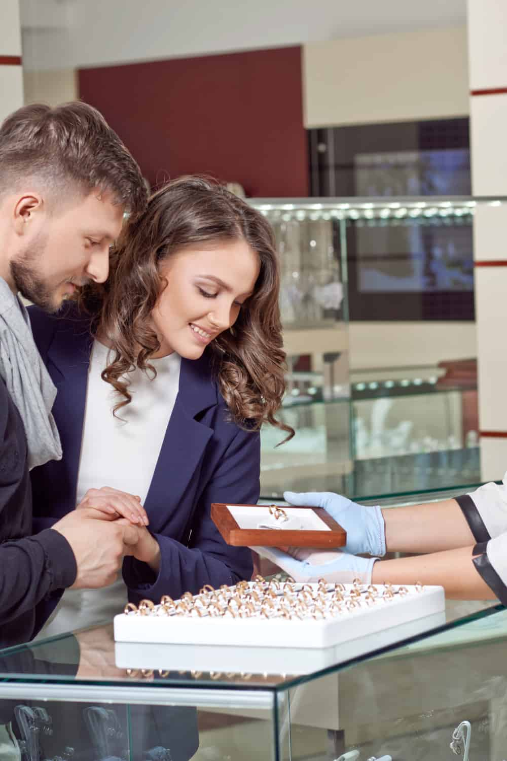 Buy the wedding rings jointly