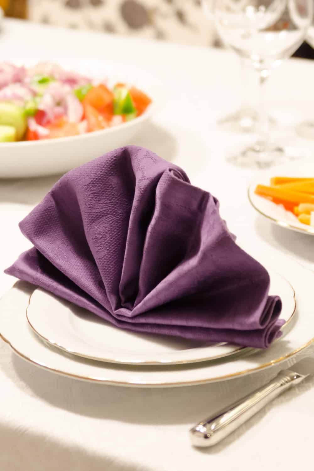 10 Ways To Fold A Napkin With A Ring