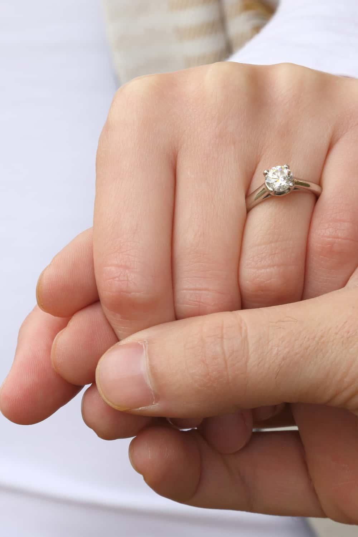Left hand's ring finger