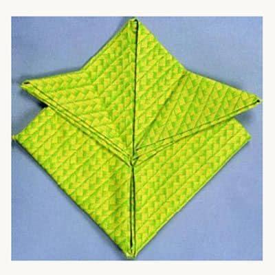 Prepare a Fleur-de-Lis napkin