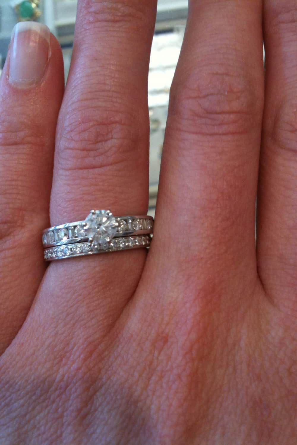 Wearing the Wedding and Engagement Ring Together 1