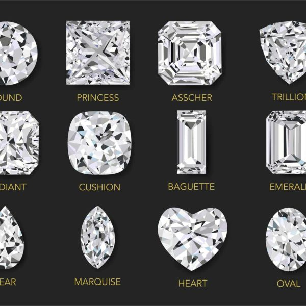 12 Different Cuts of Diamond Rings