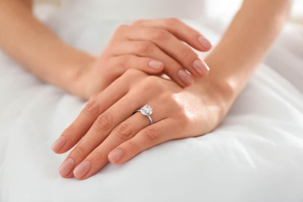 engagement ring finger