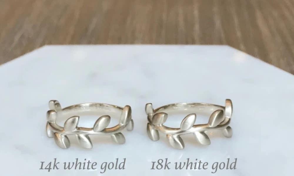 14 vs. 18 Karat white gold