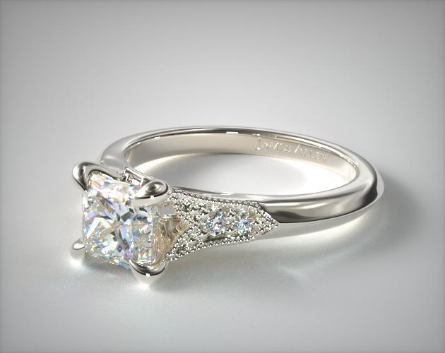 Art Deco Inspired Princess Cut Ring