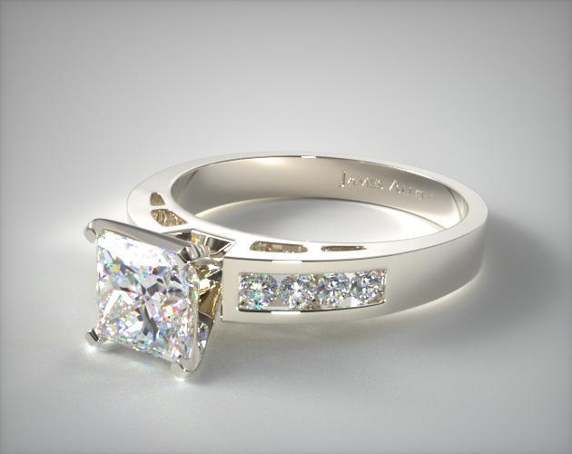 Channel Set Princess Cut Ring