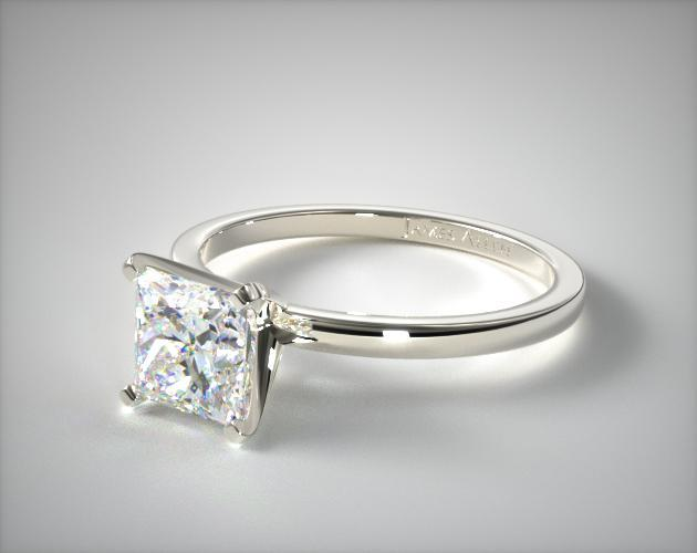 Comfort-Fit Princess Engagement Ring