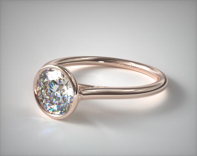 Comfort-Fit Solitaire Engagement Ring – 14k