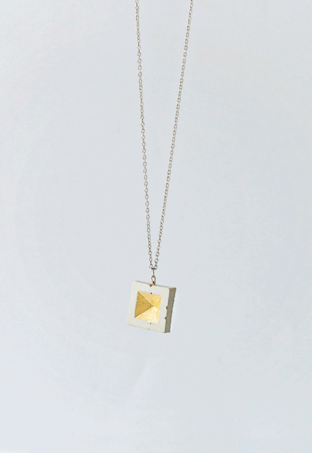 DIY Concrete and Gold Leaf Pendant – Lanaredstudio.com