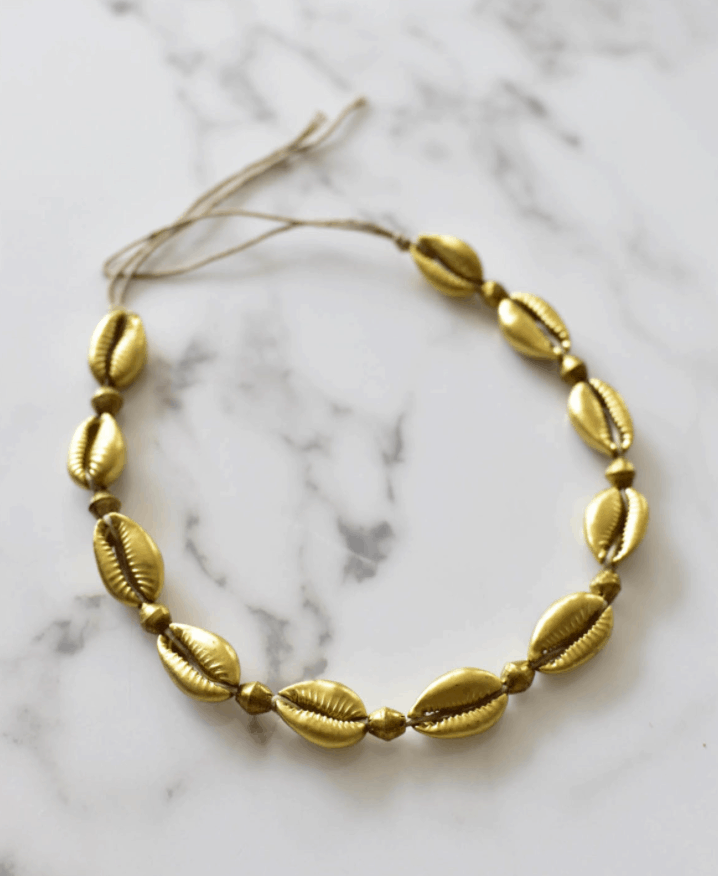 DIY Gold Cowrie Shell Necklace – theStyleSafari