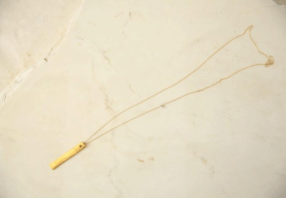 DIY Gold Leaf Pendant Necklace – Collective Gen