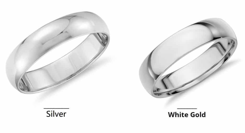 Difference Between White Gold and Silver
