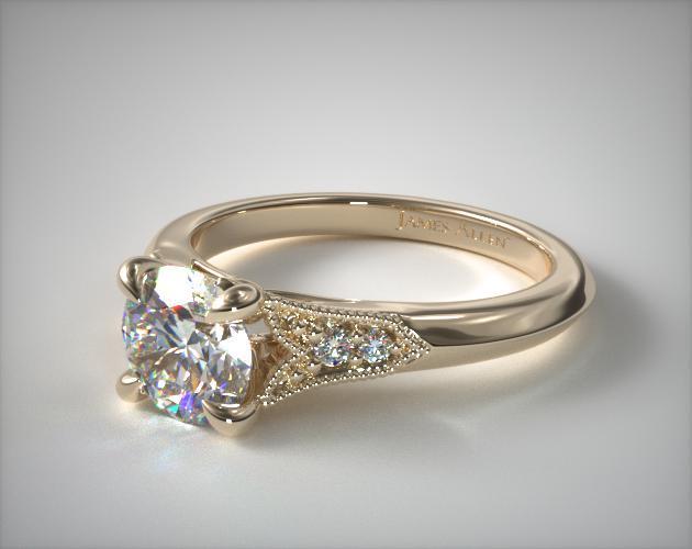 Fleur-de-Lys Art Deco-Inspired Ring