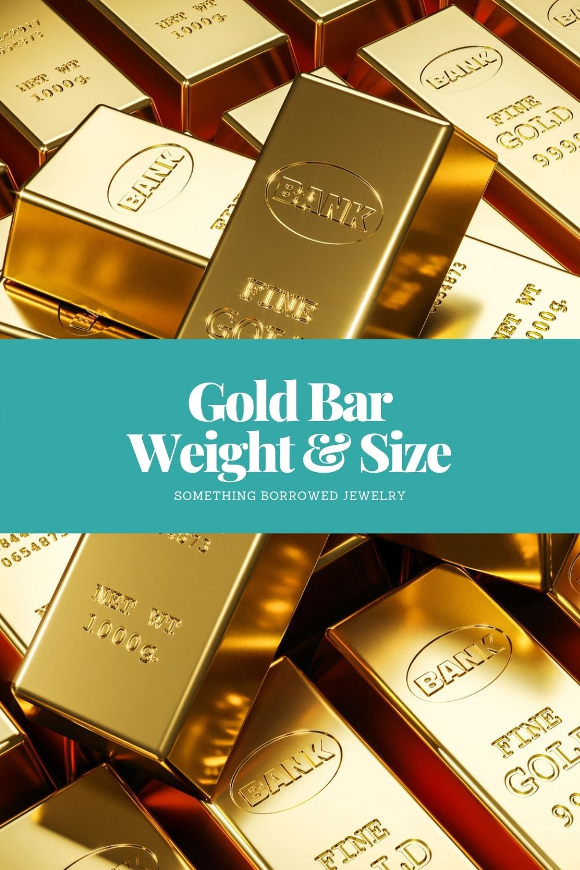 Gold Bar Weight & Size pin