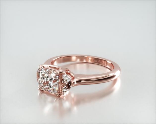 Half Moon Flush Fit Engagement Ring – 14k