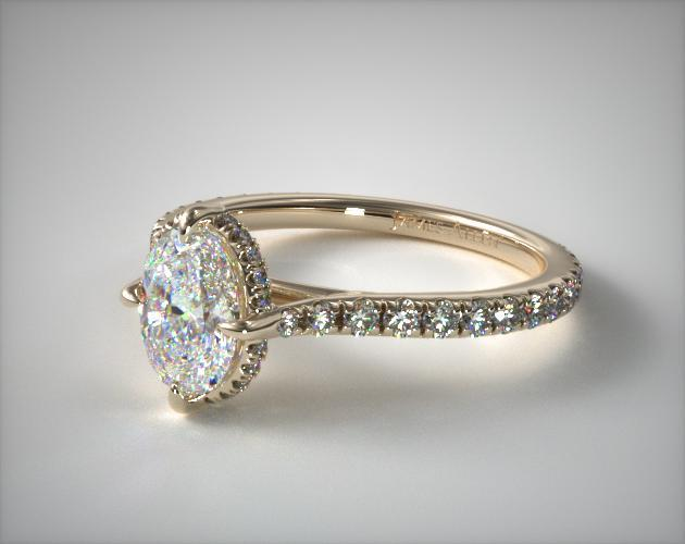 Lab-Created Crown Diamond Ring