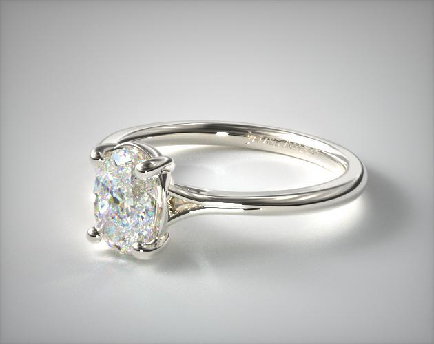 Lab-Created Oval Engagement Ring