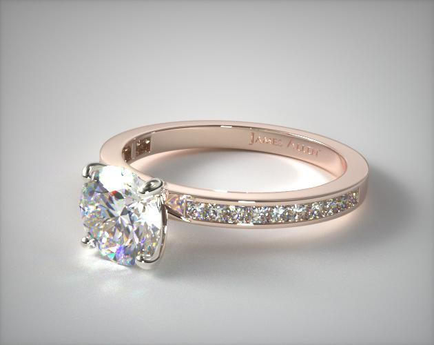 Lab-Created Ring with Princess Cut Channel