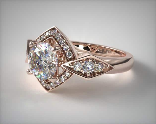 Lab-Created True Hearts Art Deco Ring