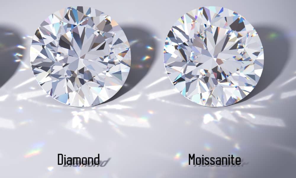 Moissanite vs. diamond - Difference in sparkle