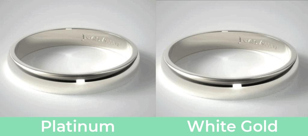 Platinum vs. White Gold - Appearance