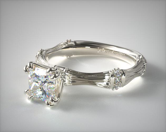 Princess-Cut Organic Bamboo Ring