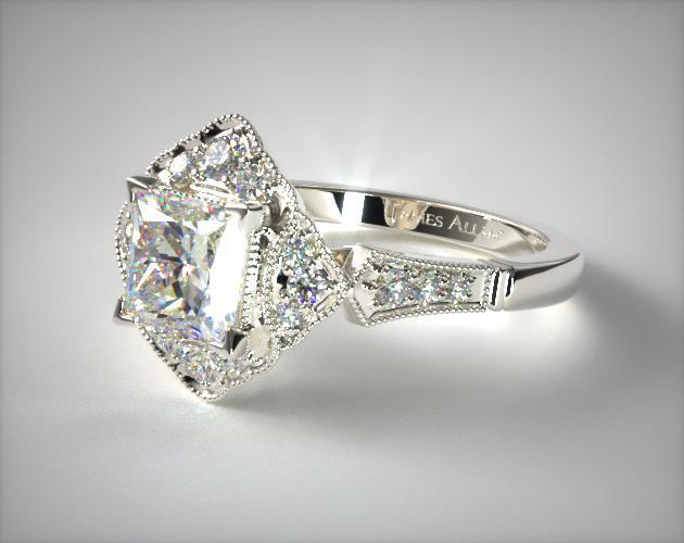 Regal Frame Princess Cut Ring