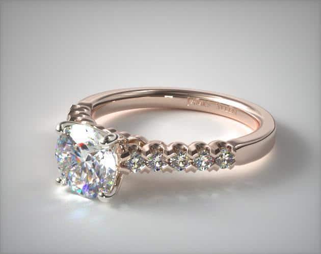 Rose Gold Fishtail Engagement Ring – 14k