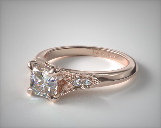 Rose Gold Fleur-de-Lys Art Deco-Inspired Ring