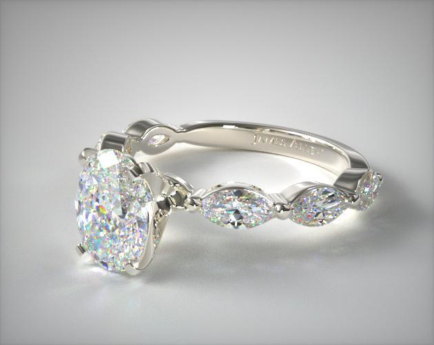 Top Claw Oval Cut Engagement Ring
