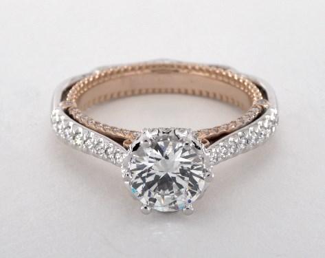 Two-Tone Venetian Engagement Ring – 18k