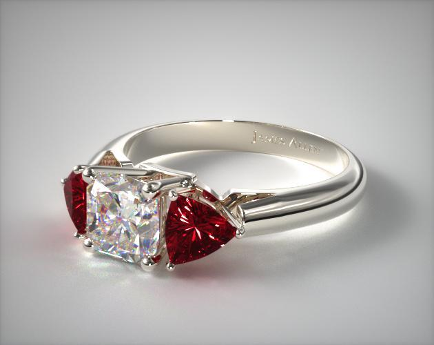 Wire Basket Trilliant Ruby Ring