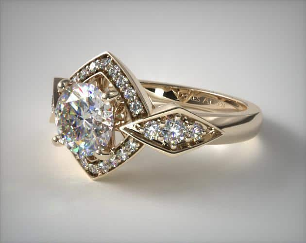 Yellow Gold 18k Art Deco-Inspired Ring