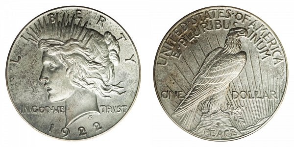 1922 Peace Silver Dollar (high relief)