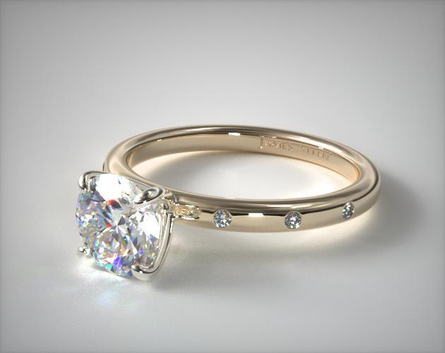Accented Yellow Gold Engagement Ring