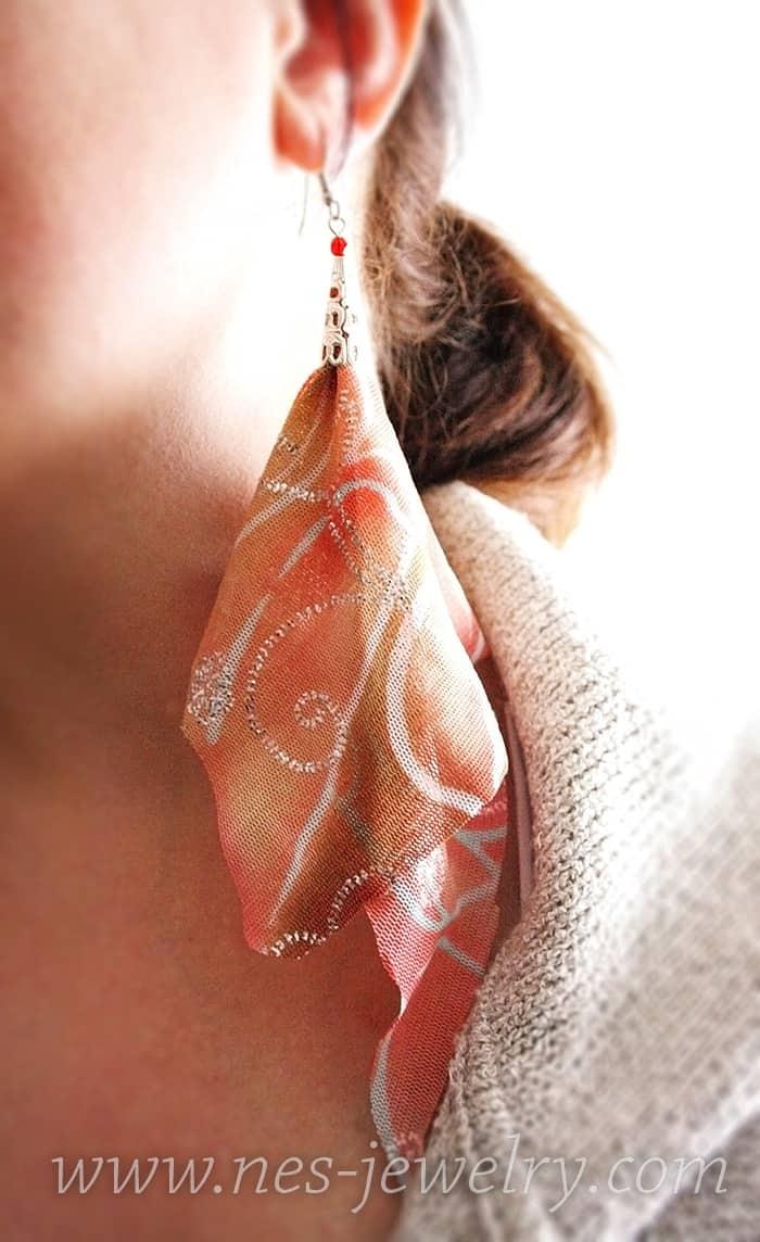 Boho-Style earrings DIY in five minutes – Selected Israel Handmade Jewelry Designs