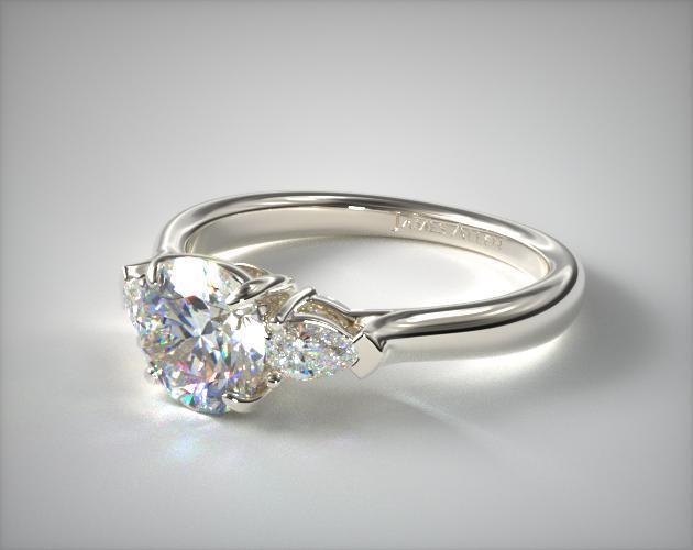 Coloured Diamond Pear-Shaped Ring