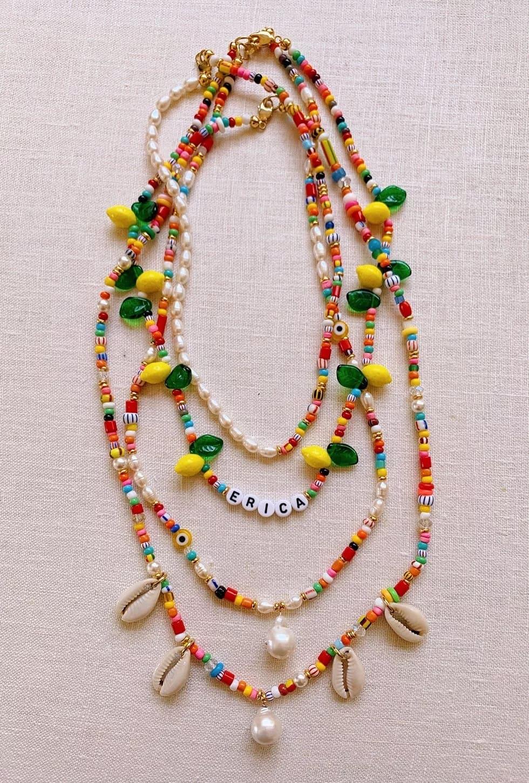 DIY Beaded Summer Necklaces – Honestly WTF