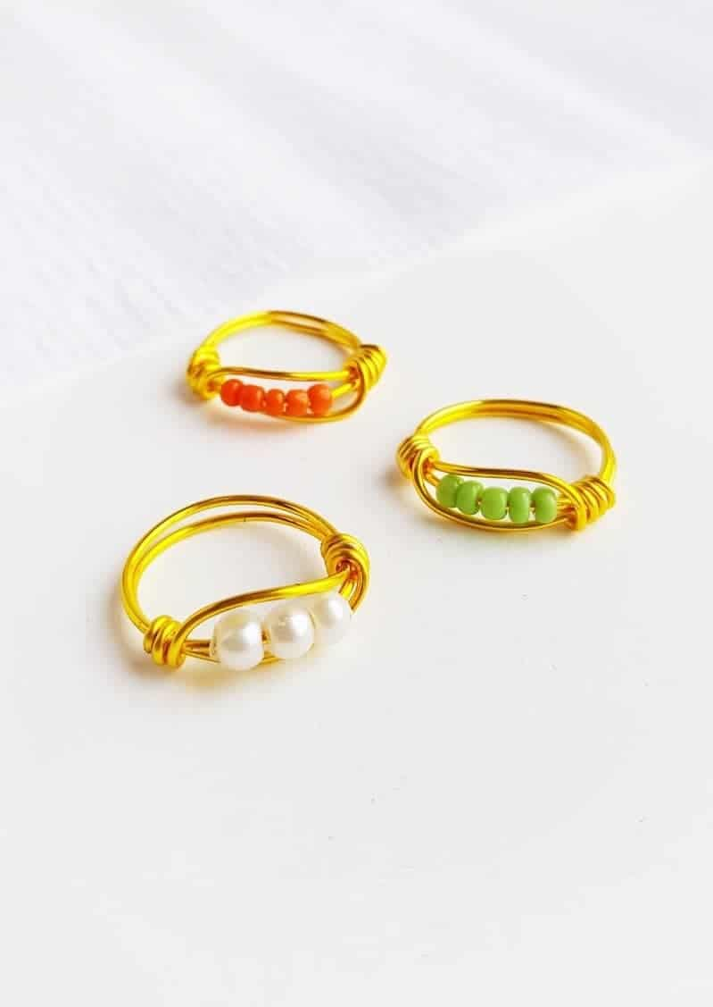 DIY Beaded Wire Ring - Make Your Own Jewelry (6 Easy Steps)