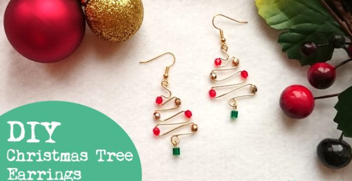 DIY Christmas Tree Earrings Tutorial – Golden Age Beads
