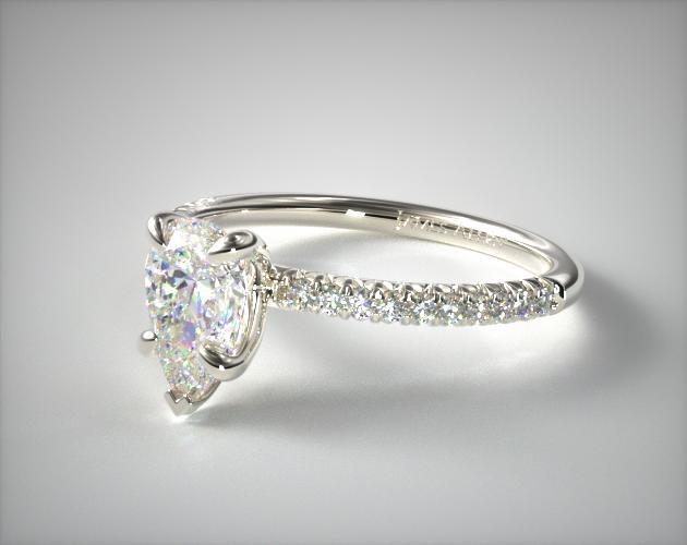Dramatic Pear-Shaped Engagement Ring