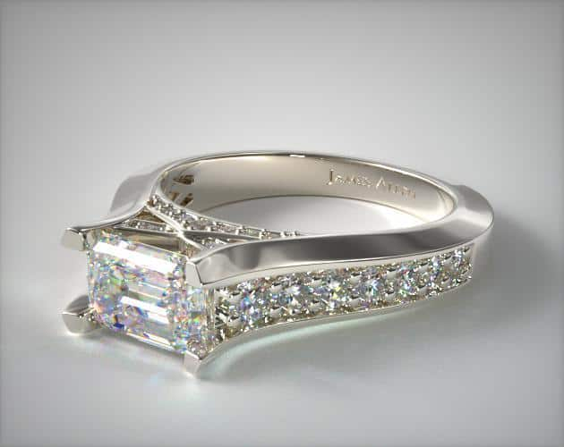East-West Graduated Pavé Ring