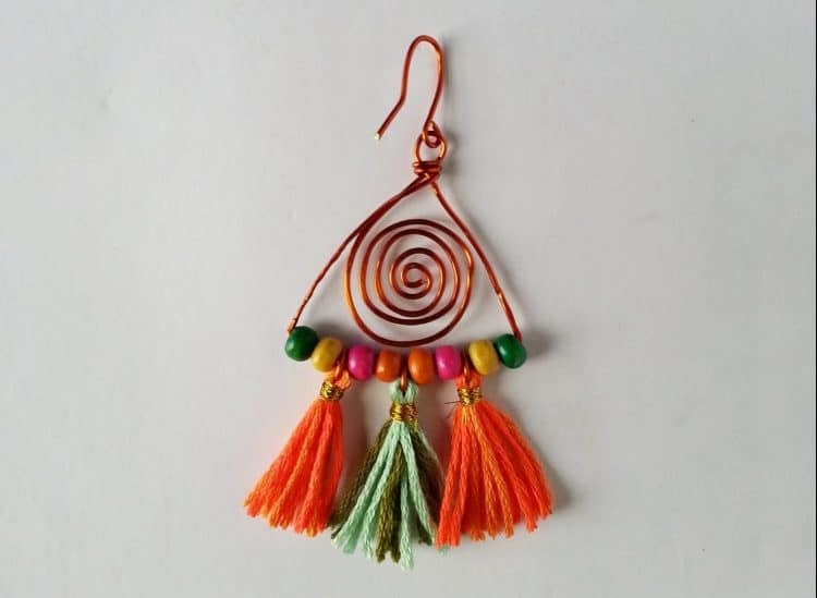 How to Make Colorful Boho Earrings with Tassels – Happy Mothering